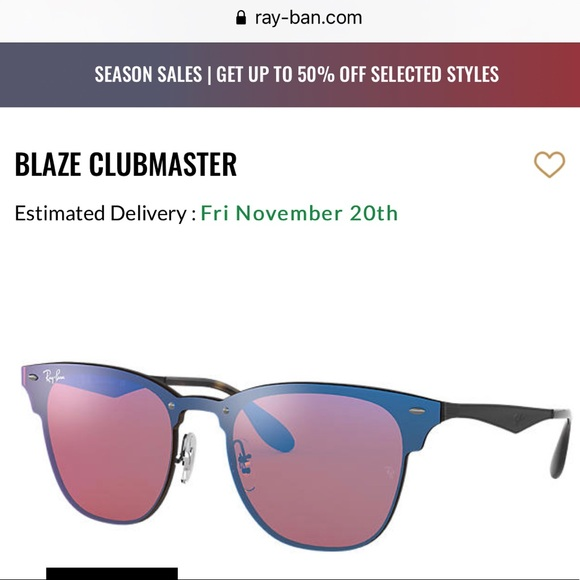 NWT Ray-Ban Blaze Clubmaster sunglasses (Women)